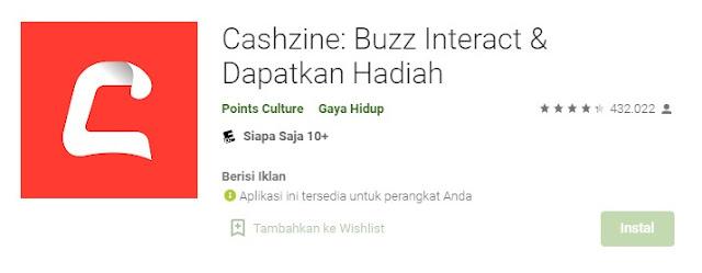 Cashzine Penghasil Uang
