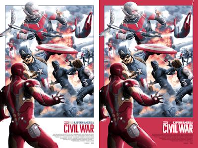 New York Comic Con 2021 Exclusive Captain America: Civil War Screen Print by Florey x Bottleneck Gallery x Marvel