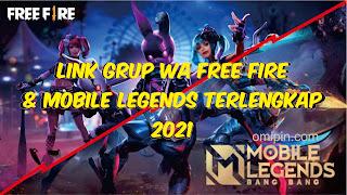 Kumpulan Link Grup WA Jual Beli Akun FF 2021 Aktif Terbaru [Link Grup WA FF + Mobile Legend] Terlengkap
