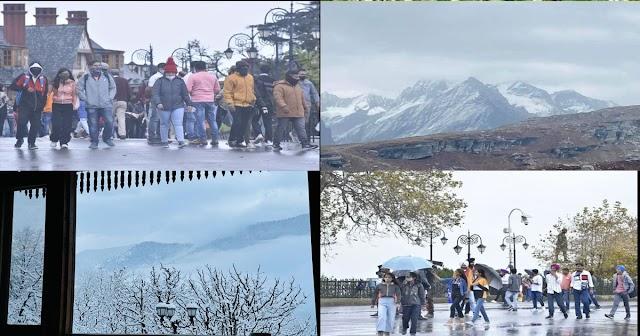 हिमाचल: मौसम विभाग की भविष्यवाणी हुई सच, बारिश-बर्फ़बारी का दौर जारी; जानें आगे का हाल