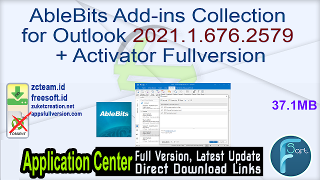 AbleBits Add-ins Collection for Outlook 2021.1.676.2579 + Activator Fullversion