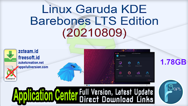 Linux Garuda KDE Barebones LTS Edition (20210809)