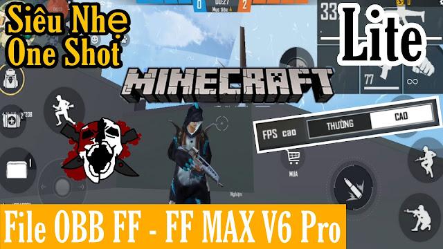GIẢM LAG FREE FIRE - FREE FIRE MAX OB29 V6 SIÊU MƯỢT MINECRAFT