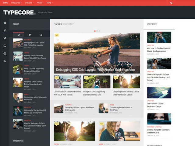 Typecore Best Free WordPress Themes For Blogs 2021