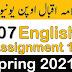 AIOU 207 English Assignment Spring 2021