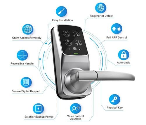 Lockly PGD628WSN Secure Pro WiFi Smart Lock Finerprint