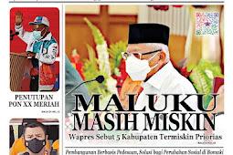 Tabloid Lelemuku #63 - Maluku Masih Miskin - 18 Oktober 2021