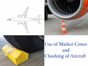 Airside Safety  | Using of Marker Cones and Aircraft Chocks
