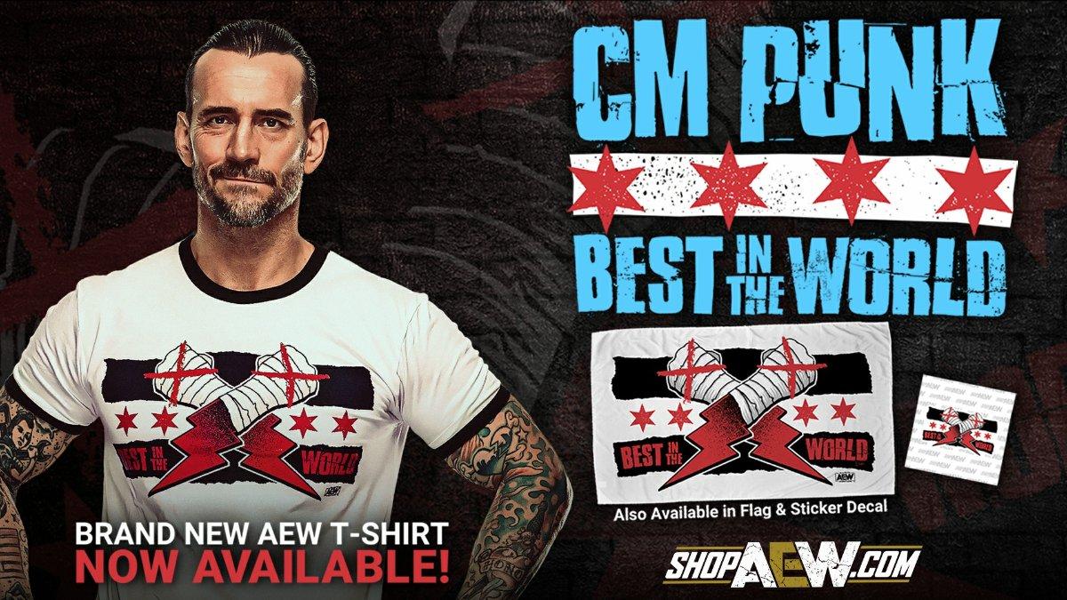 Primeira camisa de CM Punk na AEW quebra recorde de vendas na Pro Wrestling Tees