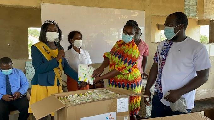 Miss Metropolitan 2020 winner donates 5,700 pieces of nose mask to Star JHS