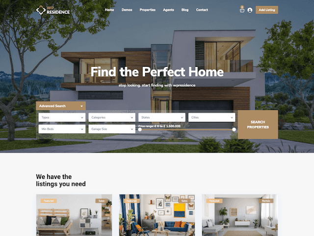 WP Residence   7+ Best WordPress Themes For Real Estate Company