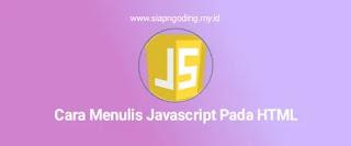 cara menulis javascript pada html