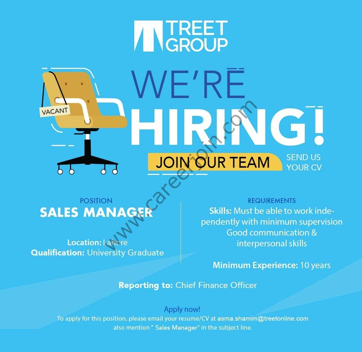 Treet Group Of Companies Jobs Sales Manager