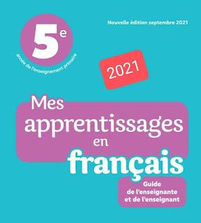 Guide mes apprentissages en français 5aep 2021