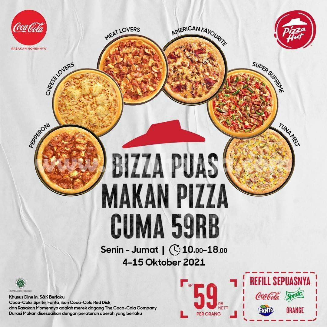 Promo PIZZA HUT 11 - 15 Oktober 2021, All You Can Eats cuma Rp. 59.000