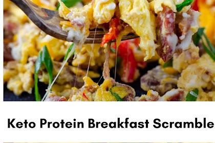 Easy Cheesy Keto Protein Breakfast Scramble