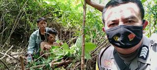 Hilang Empat Hari, Pria Tak Berdaya Ditemukan Didalam Hutan Di Kabupaten Gowa.