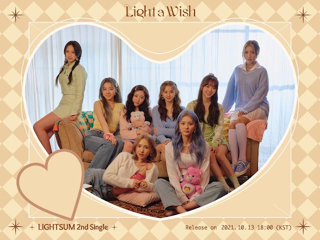 LIGHTSUM, el grupo de k-pop de Cube, vuelve con Light a Wish en 2021