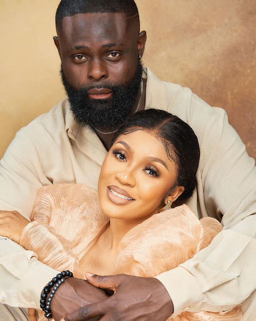 Thank You for loving me unconditionally- Yomi Casual says as he celebrates his wedding anniversary with his wife (Photos)