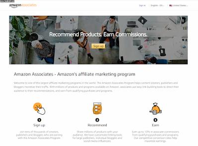 4. Amazon Associates - امازون افلييت