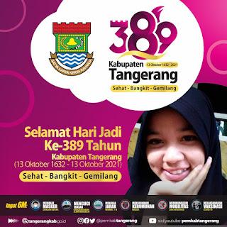 Twibbon atau Bingkai Foto Hari Jadi Kabupaten Tangerang, 13 Oktober 2021