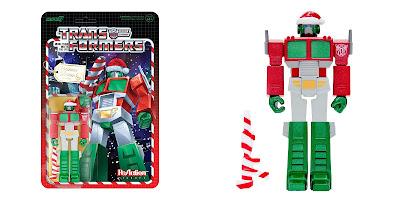 Transformers Santa Optimus Prime ReAction Figure by Super7