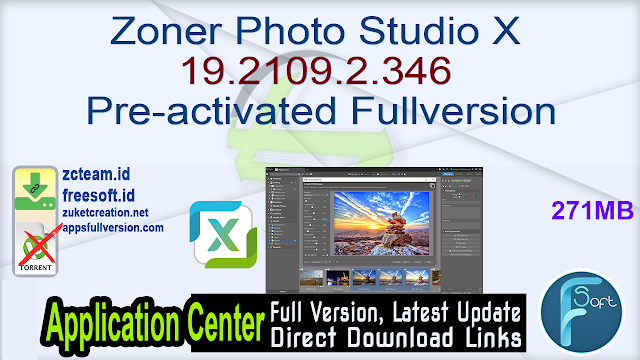 Zoner Photo Studio X 19.2109.2.346 Pre-activated Fullversion