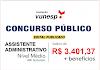 Aberto Concurso Público para nível médio (regime da CLT) com salário de R$ 3.401,37. Saiba Mais