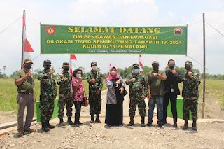 Tim Wasev PKO TMMD Kodam IV/Diponegoro Tinjau Progress Pelaksanaan TMMD Sengkuyung Tahap III Kodim Pemalang