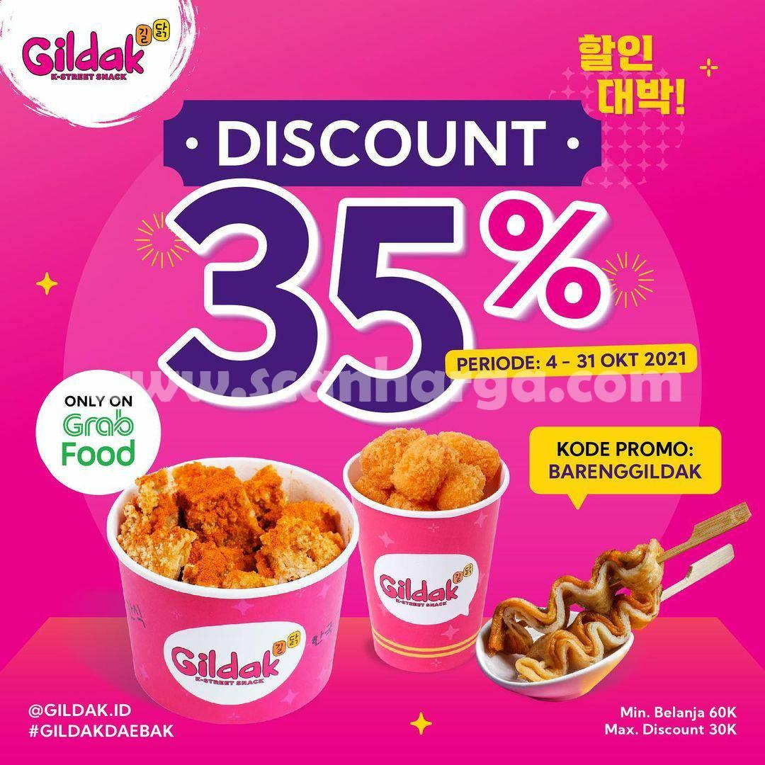 Promo GILDAK DISCOUNT Up to 35% only GRABFOOD