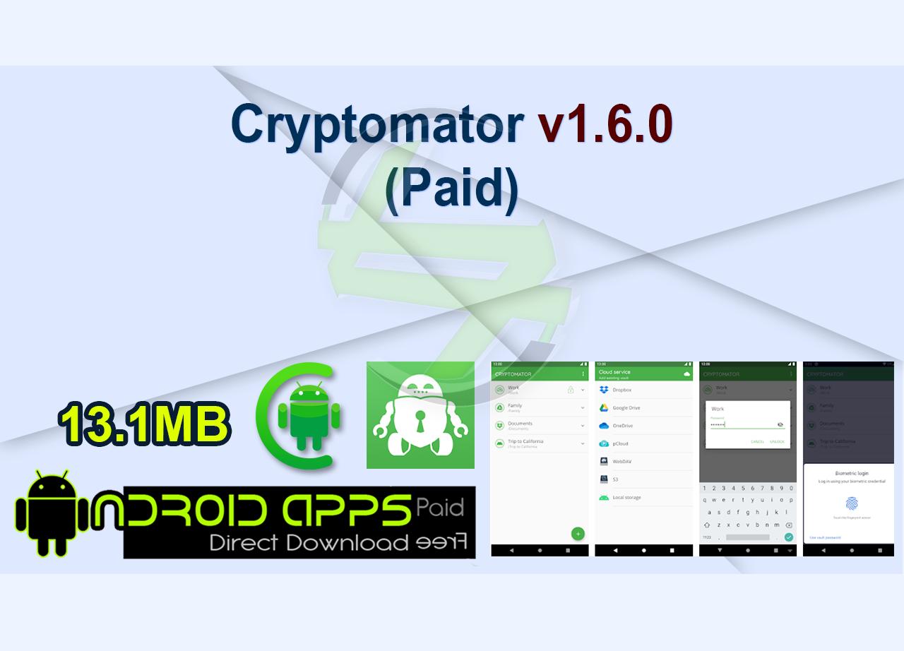 Cryptomator v1.6.0 (Paid)