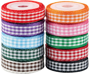 Plaid Ribbons Spool For All Crafting Projects