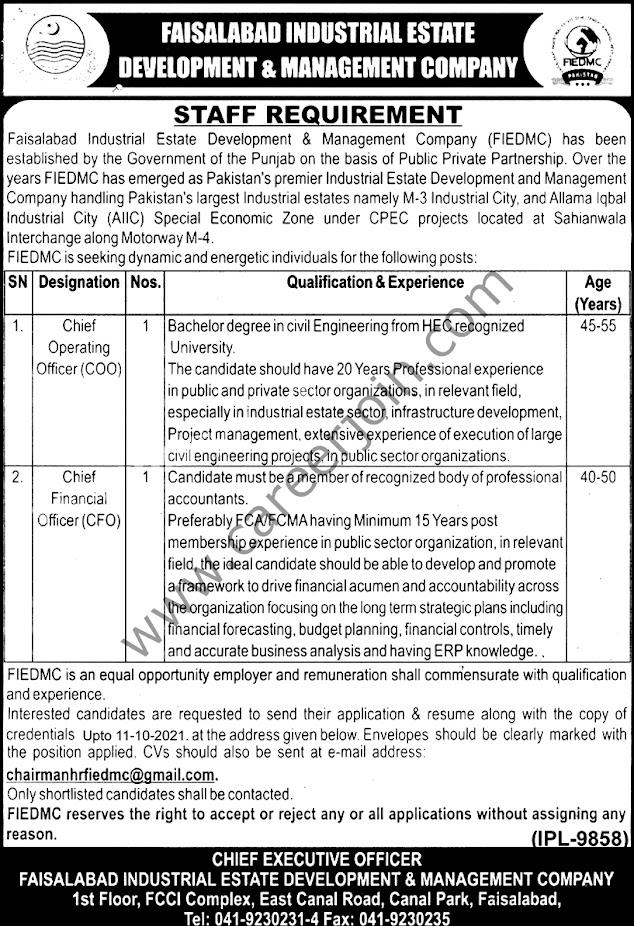 Faisalabad Industrial Estate Development & Management Company   Latest Jobs 2021
