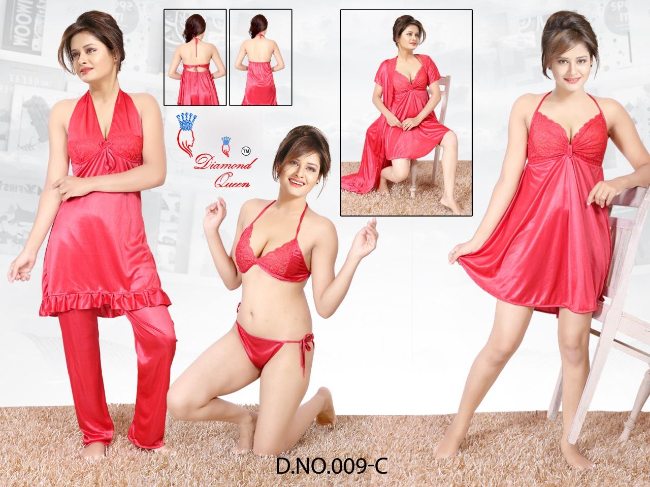 Diamond Queen Design No 009 Satin Night Gowns Catalog Lowest Price