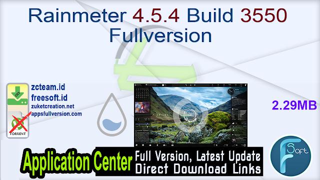 Rainmeter 4.5.4 Build 3550 Fullversion