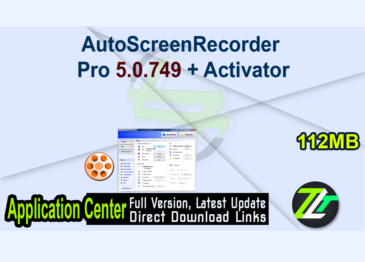 AutoScreenRecorder Pro 5.0.749 + Activator