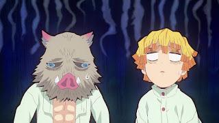 鬼滅の刃アニメ 25話   かまぼこ隊 我妻善逸 嘴平伊之助 かわいい 全集中   Demon Slayer Hashibira Inosuke Agatsuma Zenitsu