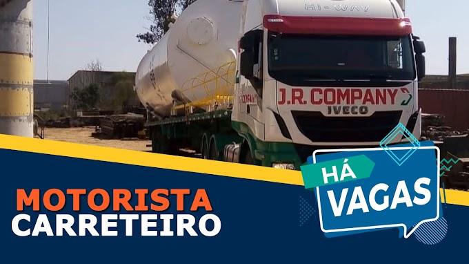 Transportadora JR Company abre vagas para motorista carreteiro