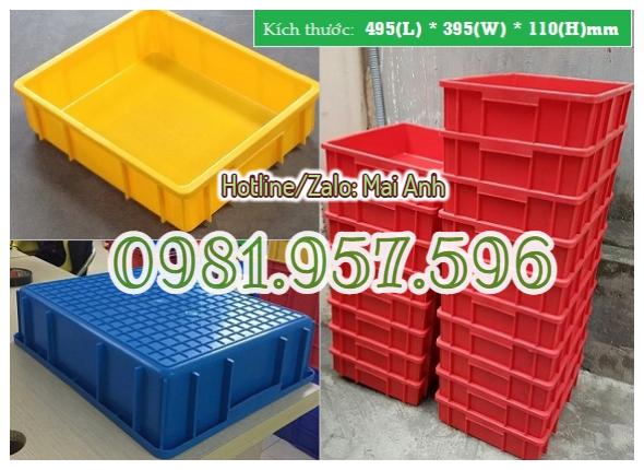 Thùng nhựa B9, hộp nhựa B9, sóng nhựa 495 x 395 x 115mm