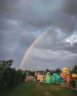 Rainbow Aesthetic Background