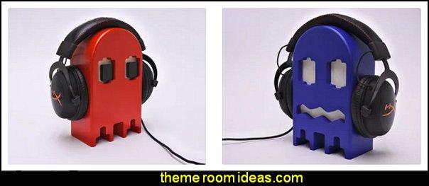 pacman decor Retro gamers headphone stand retro gamers bedroom decorations