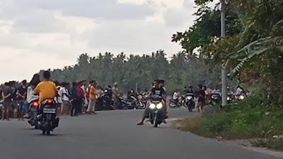 Aksi Balap Liar di Jalan Pantai Suryawangi Lotim Dibubarkan Polisi