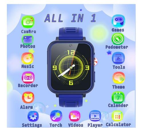 AIWIEP Camera Alarm Clock Calculator Kids Smart Watch