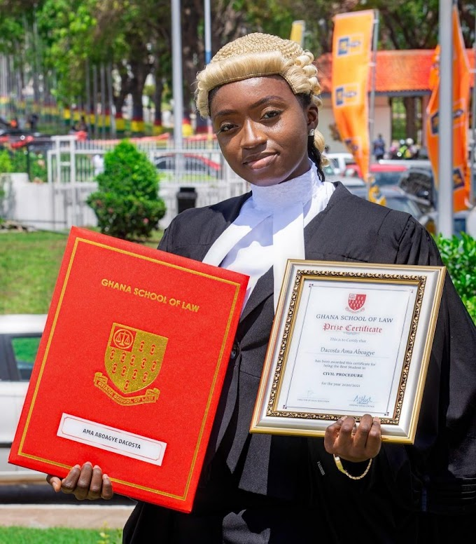 Meet Ama Aboagye DaCosta, The Youngest Lawyer in Ghana at 22 years