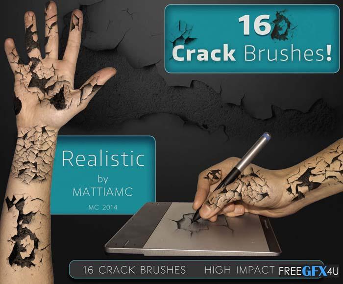 16 Crack Brushes Pack