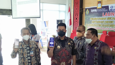 Bupati Samosir Launching Pembayaran Non Tunai Berbasis QRIS