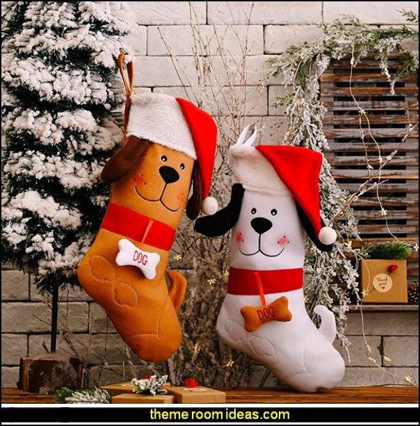 Christmas Stocking dog  Xmas Stockings Pet for Christmas stockings dog themed