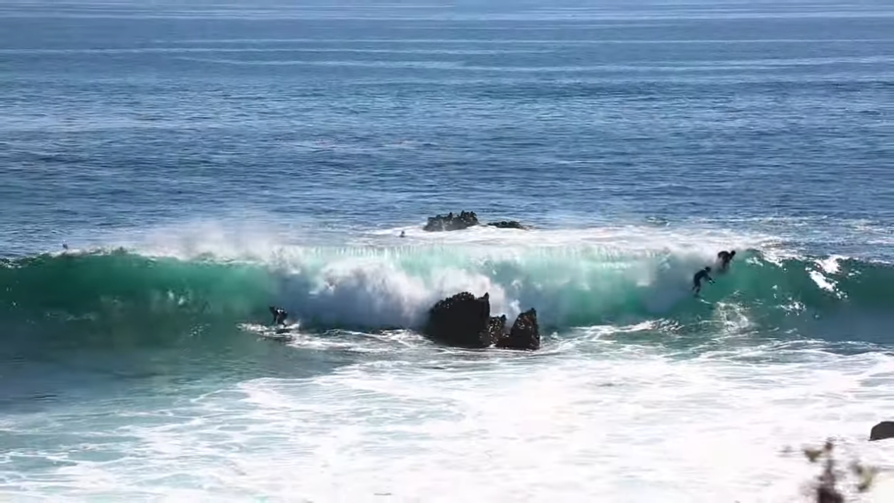 DANGEROUS Surf Part 2 SURFING Over Dry Reef Raw Footage 9 14 21