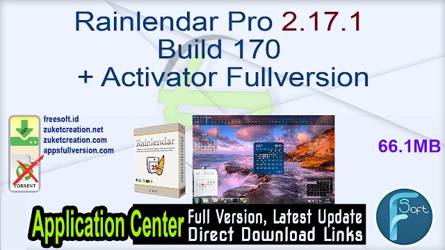 Rainlendar Pro 2.17.1 Build 170 + Activator Fullversion