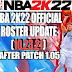 NBA 2K22 OFFICIAL ROSTER UPDATE 10.23.21 AFTER PATCH 1.05 - LATEST TRANSACTIONS AND LINEUPS